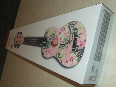 AU24.99 • Buy Pink Floral Child's Ukulele - New