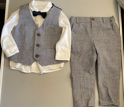 £18 • Buy Baby Boy Waistcoat, Shirt, Bow Tie, Trousers * From Next * 9-12m / 12-18m