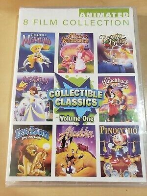 £7.07 • Buy 8 Film Collection Animated Collectible Childrens Classics ~ NEW DVD