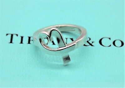 £105 • Buy Tiffany & Co Sterling Silver Ring Paloma Picasso Loving Heart Ring RRP £355