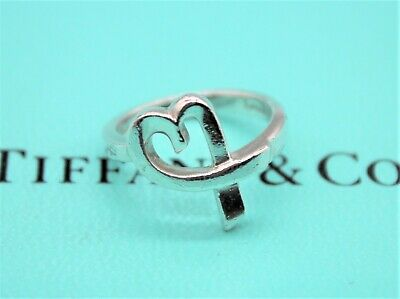 £89 • Buy Tiffany & Co Sterling Silver Ring Paloma Picasso Loving Heart Ring RRP £355