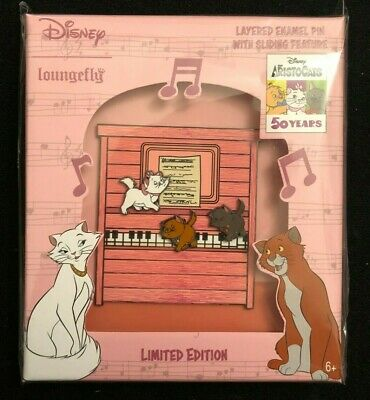 $ CDN54.53 • Buy Loungefly 2021 Aristocats Marie Toulouse Berlioz Sliding On Piano LE Disney Pin