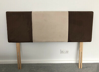 """£15 • Buy Faux Suede Headboard For 4'6""""Double Bed"""