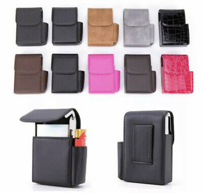 Leather Pocket Tobacco Cigarette Case Box Lighter Holder Storage Container NEW • 7.99£