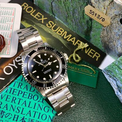 $ CDN21725.12 • Buy Rolex Submariner 5513 Vintage 1988 No Date - PX & Finance Available