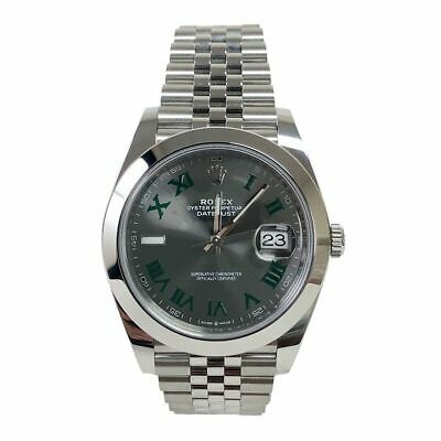 $ CDN14133.20 • Buy Rolex Datejust II 126300 Jubilee Steel 41mm Grey Rhodium Green Roman Wimbeldon