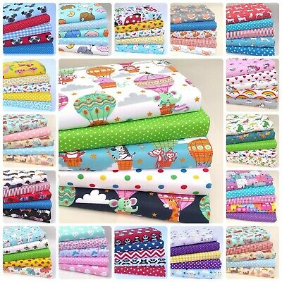 £7.45 • Buy New Childrens Fabric Bundles Fat Quarters & Squares Poly Cotton Sewing Material