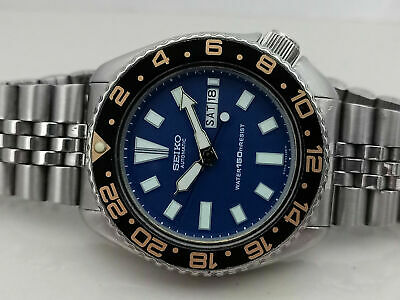 $ CDN94.80 • Buy Vintage Seiko Diver 6309-729a Blue Face Modded Automatic Men Watch Sn. 650344