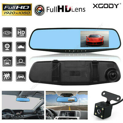 AU31.99 • Buy 4.3  1080P Car Rear View Mirror Screen DVR Camera Dash Cam Security Night Vision
