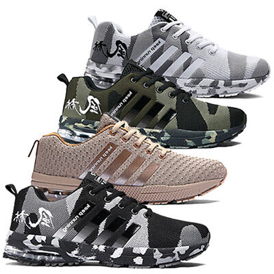 £21.59 • Buy Mens Shock Absorbing Trainers Running Walking Casual Lace Gym Sports Shoes Size