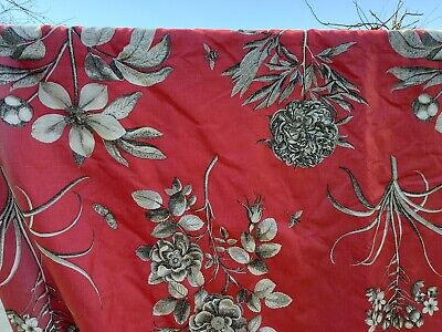 £165 • Buy Beautiful SANDERSON Etchings & Roses CURTAINS Interlined LINEN Floral