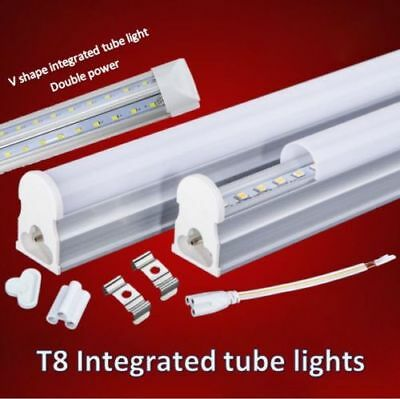 £9.25 • Buy LED Integrated T8 Tube Lights (1,2,3,4,5,6)ft, Slim Light With Complete Fitting