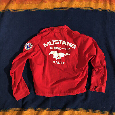 £64.46 • Buy Vintage 1960's Ford Mustang Rally Round-up Jacket- Size Small