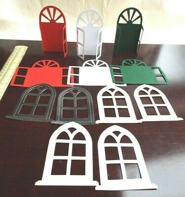 £5 • Buy 12 Mixed Gothic Arch & Opening Fronted Window Frames  Die Cuts