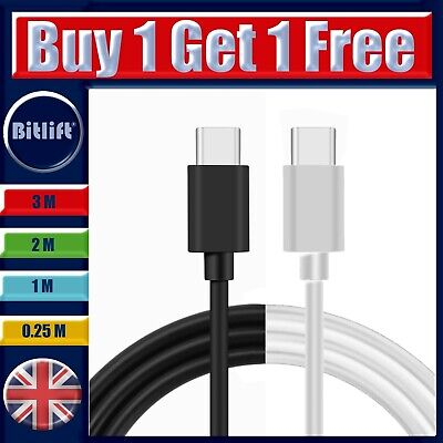 £5 • Buy USB C To C Cable Dual Type C To C Charger Fast Data Sync And Charging Lead 1M