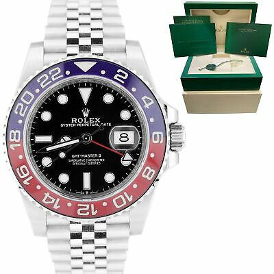 $ CDN24183.65 • Buy MINT 2020 Rolex GMT-Master II PEPSI Blue Red Stainless Ceramic 40mm 126710 BLRO