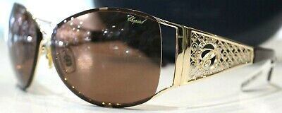 £102.45 • Buy CHOPARD BROWN & GOLD PLATED SUNGLASSES SCH690S-66-12-120 -Good&Authentic