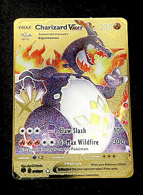 AU13.95 • Buy Charizard VMAX Pokemon Card Shiny Variant Gold Metal Champion's Path 074/073