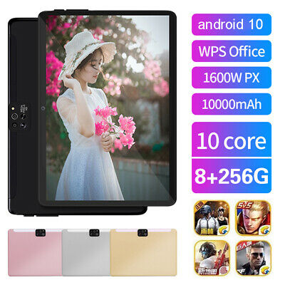 AU112.89 • Buy Android 10.0 Dual SIM 10.1  4G Tablet PC 8+256GB 2.5D 4-Camera 8+13MP Phablet