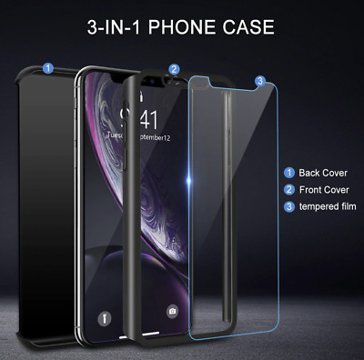 £0.99 • Buy Shockproof Full 360° Hard Case Cover Screen Protector IPhone 12 Pro Max Black