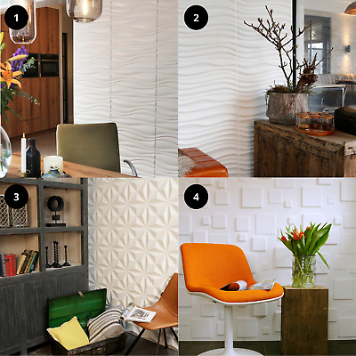 £63.95 • Buy White Wall Panels For Home Living Bedroom Kitchen Decorative Cladding Boards