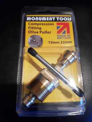 £23.99 • Buy Olive Puller Removal Plumbers Tool 15mm And 22mm - Monument Tools -