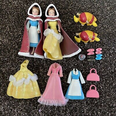 £15 • Buy Mattel Polly Pocket Disney Beauty And The Beast Belle Figures And Clothes Rare