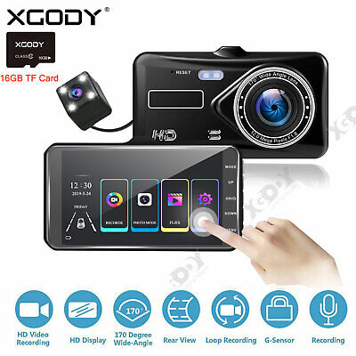 AU57.99 • Buy XGODY 4  Dash Cam 1080P Touch Car DVR Front And Rear Camera Video Recorder 16GB