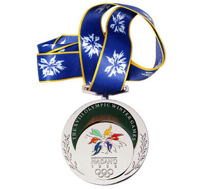 £39.83 • Buy Silver Medal Of The XVIII Winter Olympic Games In Nagano 1998.