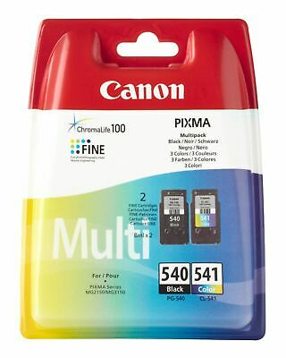 Genuine Canon PG-540 Black + CL-541 Colour Ink Cartridge Set | FREE 🚚 DELIVERY • 32.95£
