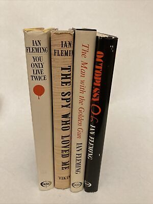 $15 • Buy Four Ian Fleming 007 Hardback Books