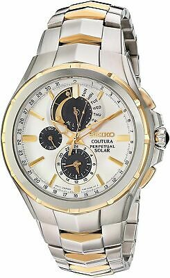 $ CDN461.18 • Buy Seiko Men's Solar Coutura Chronograph Two Tone Stainless Steel Watch SSC560