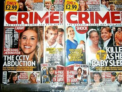 £4.99 • Buy 2 Crime Monthly Magazines Issue 21 December & Issue 22 January  (new) 2020/21