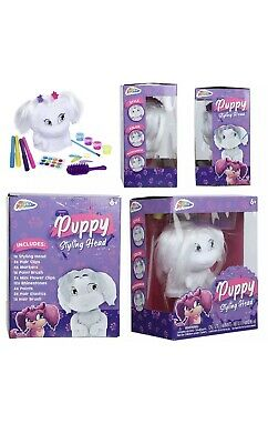 Puppy Hair Styling Head With Accessories Kids Girls Hairstyling Doll Toy Playset • 3£