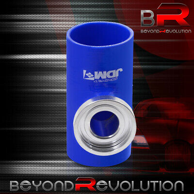 $21.99 • Buy Universal 3  Turbo SSQV/SQV Bov Flange Blue Silicone Adapter Pipe Coupler JDM