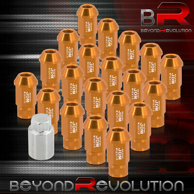 $27.99 • Buy For Toyota 12X1.5MM Road Race Tall Extended Wheel Rims Lug Nuts Set Gold Adapter