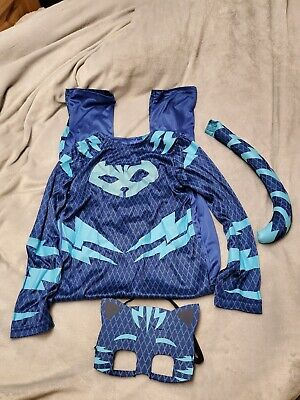Boys PJ Masks Catboy Costume Official Superhero Fancy Dress Outfit 7/8 • 11.99£