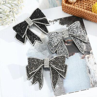 $ CDN3.68 • Buy Bow Crystal Hairpin Clip For Women Rhinestone Barrette Ponytail Hair Accessories