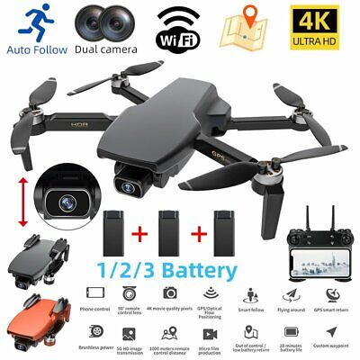 AU116.34 • Buy 4K HD RC Drones GPS With 1080P Camera Wifi FPV Quadcopter Brushless Drone
