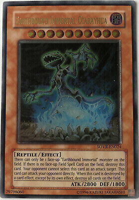 Yugioh! Earthbound Immortal Ccarayhua SOVR-EN024 Ultimate Rare Unlimited (VLP) • 12.80£