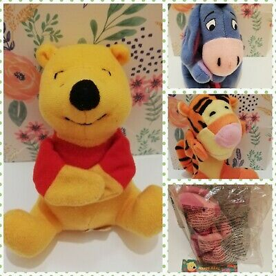 Winnie The Pooh Toy Finger Puppets 1998 Happy Meal McDonalds. Full Set • 2.99£