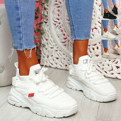 $ CDN28.97 • Buy Womens Ladies Chunky Trainers Lace Sneakers Sock Platform Women Shoes Size