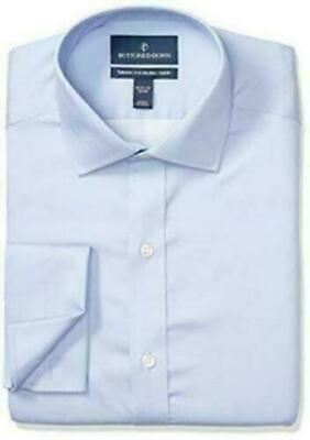£16.96 • Buy Buttoned Down Tailored-fit French Cuff Micro Twill Non-iron Dress Shirt