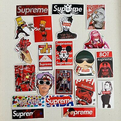 $ CDN9.99 • Buy Lot 30 Supreme Collab Brand Sticker Set Skateboard Skate Laptop Locker Cellphone