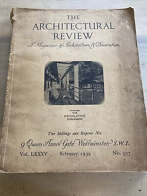 £29.99 • Buy The Architectural Review. Vol LXXXV Feb 1939 No 507