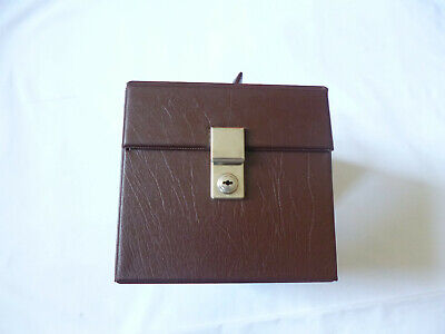£39.99 • Buy Brown 7  Vinyl Single Record Holder Storage Case ~ Larger Size ~ Nice Condition
