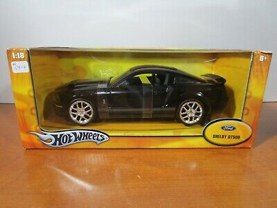 $149.99 • Buy Hot Wheels 1/18 Black W/ Gray Stripes Shelby Gt500 Ford Mustang New *read*