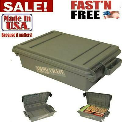 $34.99 • Buy Military Ammo Box Plastic Storage Case 65 Lbs Hunting Ammunition Crate Utility