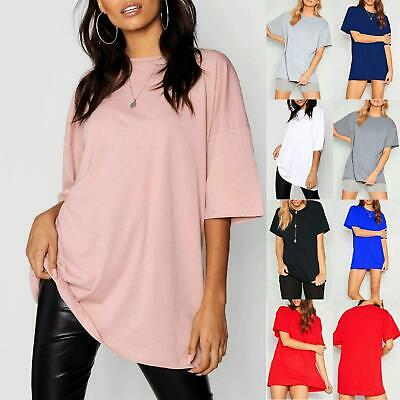 £1.99 • Buy Womens Plain Cap Sleeve Stretchy Oversized Baggy Casual Basic Ladies Tee T Shirt