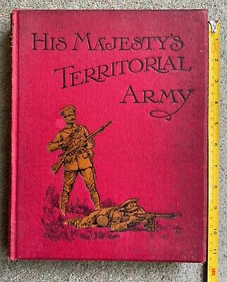 £28 • Buy His Majesty's Territorial Army Book C1910 Walter Richards Vol IV Caton Woodville